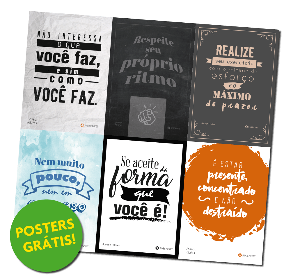Capa do eBook 'Decore seu Studio com as Frases do Mestre Joseph Pilates'